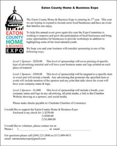 Eaton County Expo 2017 Sponsorship opportunities