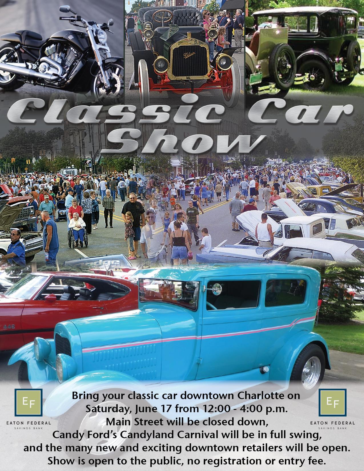 Classic Car Show - Charlotte Chamber of Commerce - Charlotte, Michigan